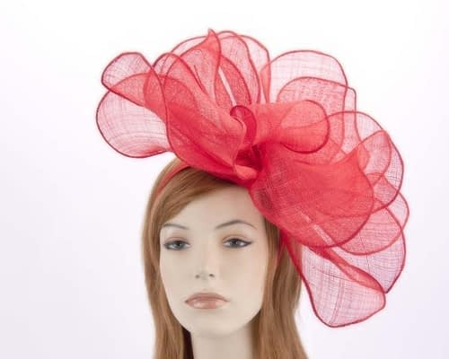 Large red racing fascinator MA630R Fascinators.com.au
