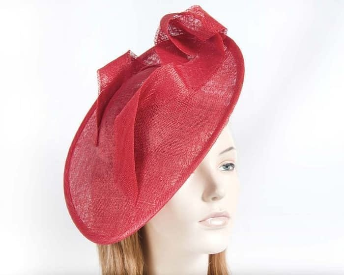 Large red plate fascinator Fascinators.com.au