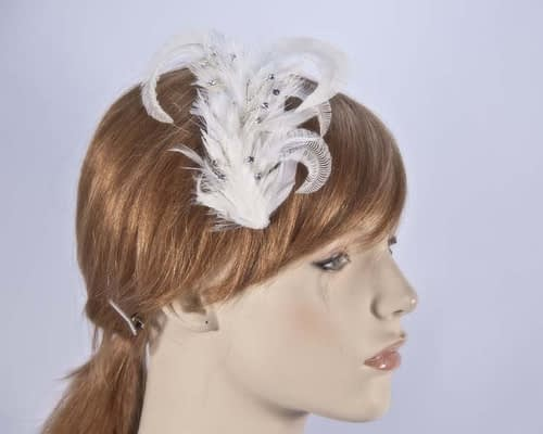 Cream feather Comb 4400CR Fascinators.com.au