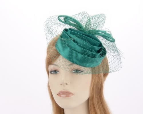 Emerald green cocktail hats K4801E Fascinators.com.au