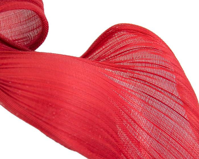 Red jinsin wave fascinator by Fillies Collection Fascinators.com.au