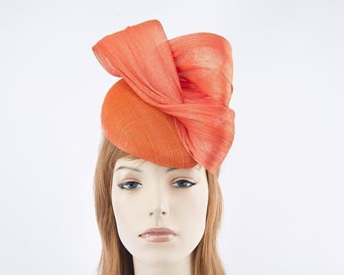 Australian made orange Fillies Collection pillbox fascinator S163O Fascinators.com.au