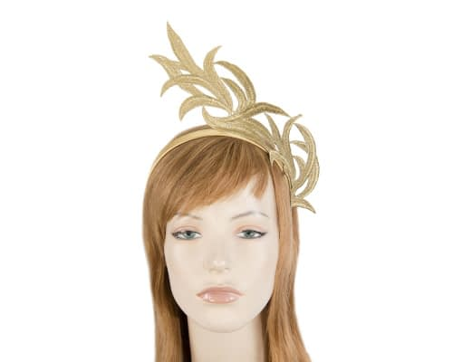 Gold lace crown fascinator by Max Alexander Fascinators.com.au