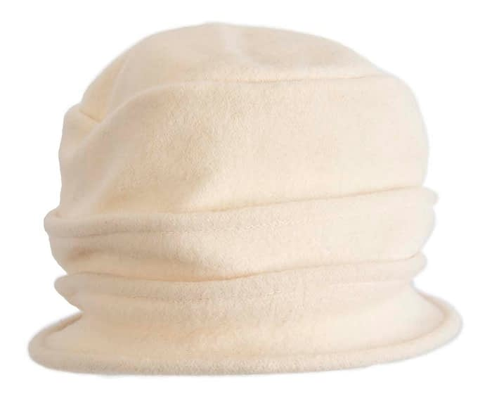 Warm cream woolen European Made bucket hat Fascinators.com.au