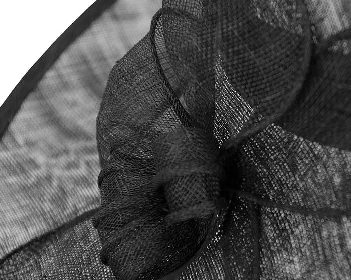 Black sinamay fascinator by Max Alexander Fascinators.com.au