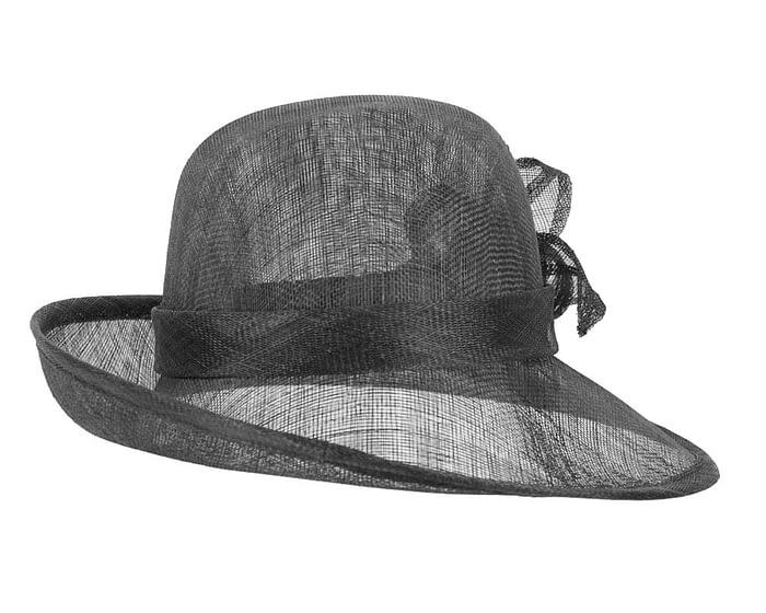 Black bucket fashion hat Fascinators.com.au