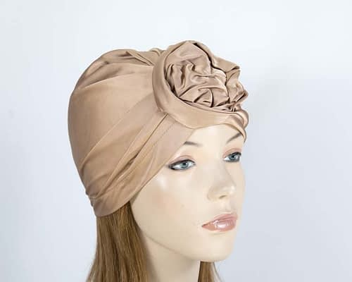 Beige fashion turban Fascinators.com.au