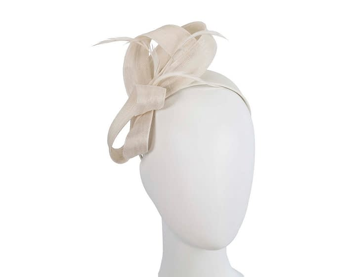 Cream loops & feathers racing fascinator by Fillies Collection Fascinators.com.au