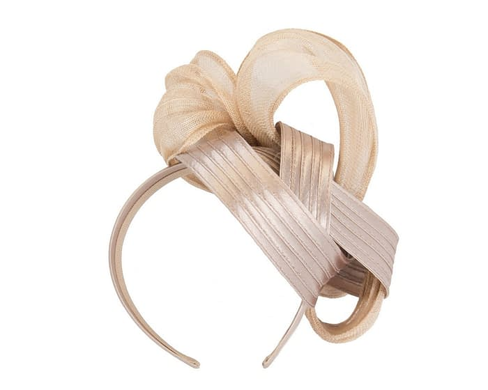 Rose gold racing fascinator by Fillies Collection Fascinators.com.au