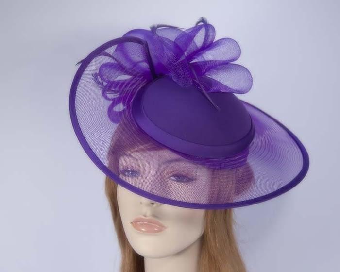Purple fashion hat H835PU Fascinators.com.au
