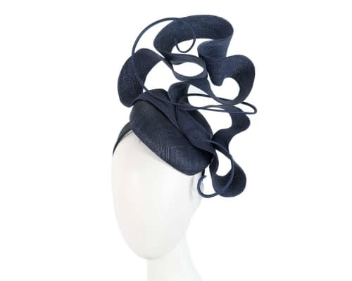 Designers navy Australian Made racing fascinator by Fillies Collection Fascinators.com.au