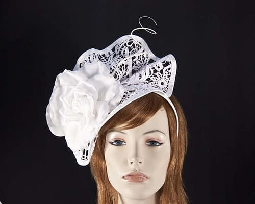 Off white lace fascinator S115W Fascinators.com.au
