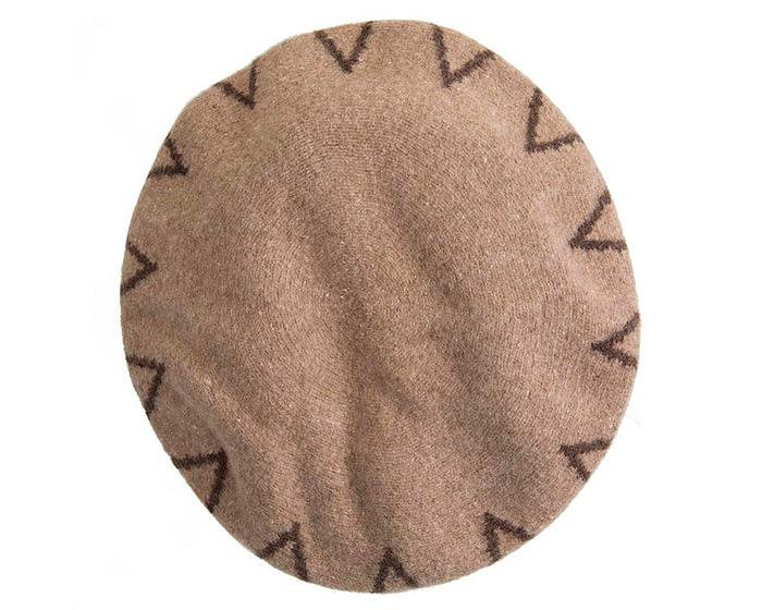 Warm mocca woolen European Made french beret Fascinators.com.au