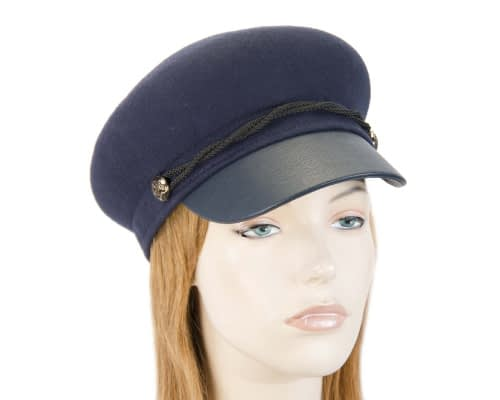 Navy felt captains cap fashion hat Fascinators.com.au