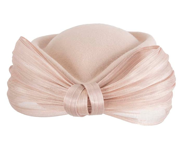 Beige Jackie Onassis felt beret by Fillies Collection Fascinators.com.au