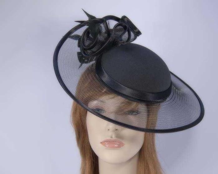 Black fashion hats H923B Fascinators.com.au