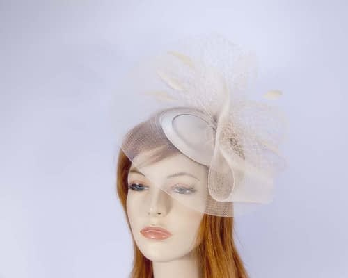 Beige mother of the bride hat Fascinators.com.au