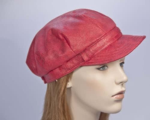 Red ladies newsboy cap Max Alexander J299R Fascinators.com.au