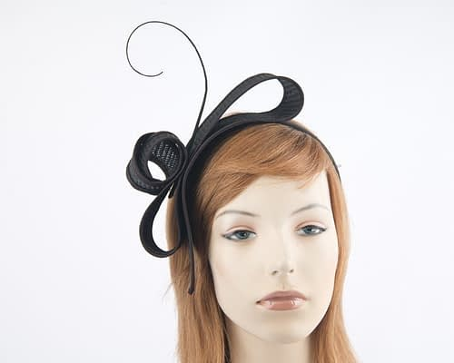 Black Max Alexander fascinator Fascinators.com.au