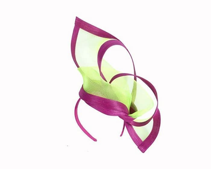 Lime fuchsia fascinators S107LF Fascinators.com.au