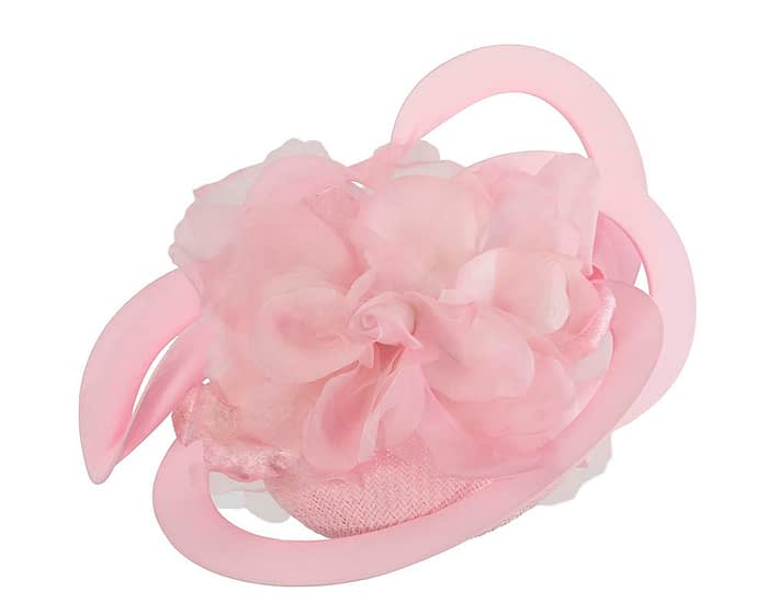 Unusual Australian made pink racing fascinator by Fillies Collection S155SP Fascinators.com.au