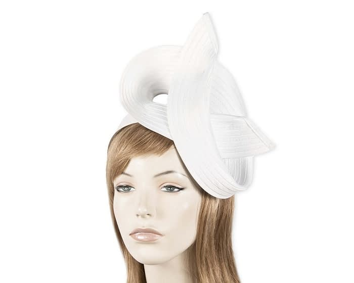 Twisted white fascinator Fascinators.com.au