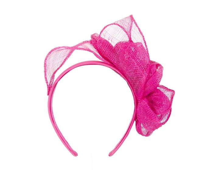 Fuchsia sinamay flowers headband Fascinators.com.au