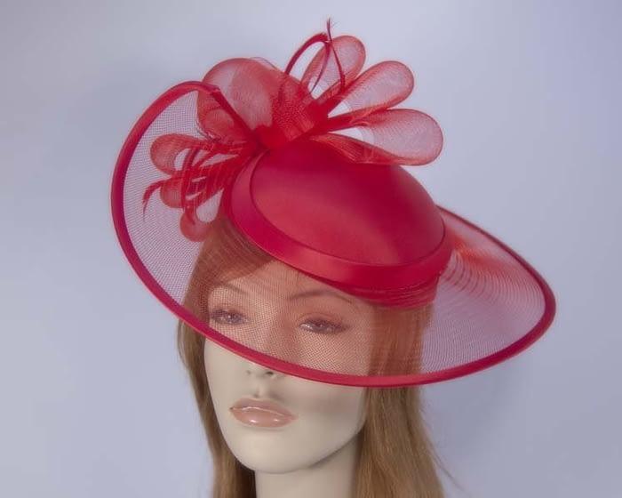 Red fashion hats H835R Fascinators.com.au