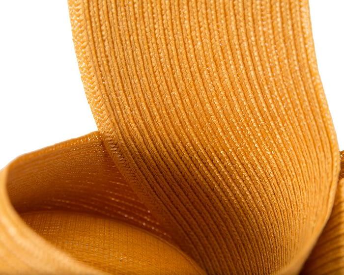 Mustard yellow Australian Made racing fascinator by Max Alexander Fascinators.com.au