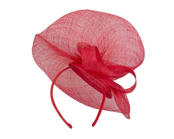 Large red sinamay fascinator Fascinators.com.au