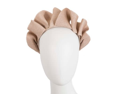 Nude PU braid crown fascinator by Max Alexander Fascinators.com.au
