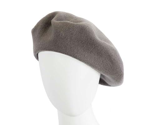 Warm grey European Made beret Fascinators.com.au