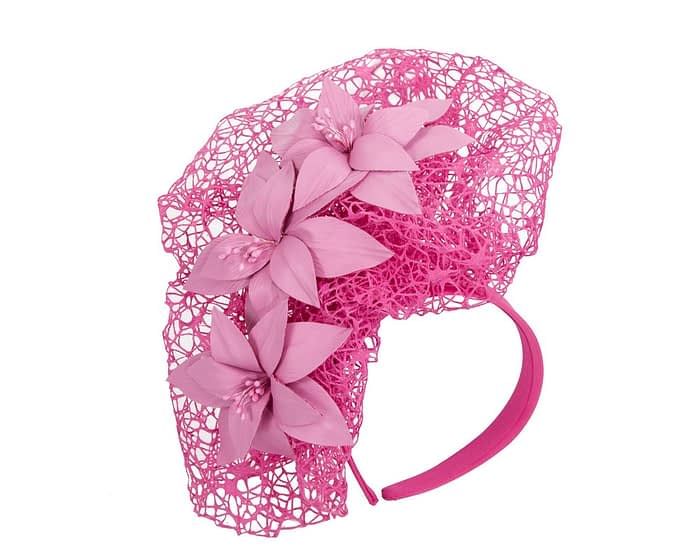 Fuchsia designers racing fascinator by Fillies Collection Fascinators.com.au