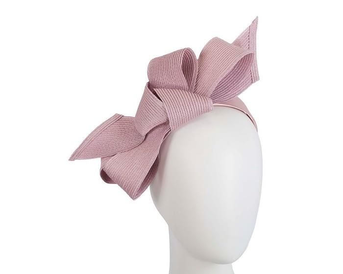 Dusty pink bow fascinator by Max Alexander Fascinators.com.au