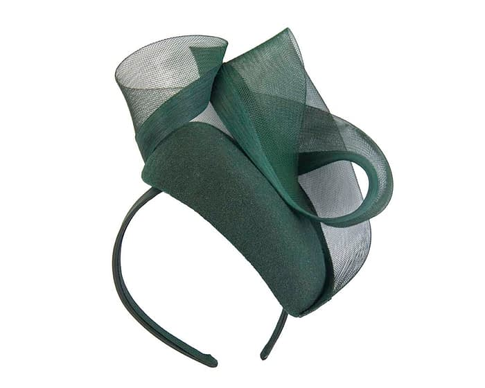 Olive green pillbox with crinoline trim Fascinators.com.au