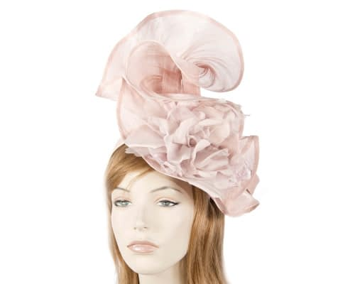 Bespoke blush flower fascinator Fascinators.com.au