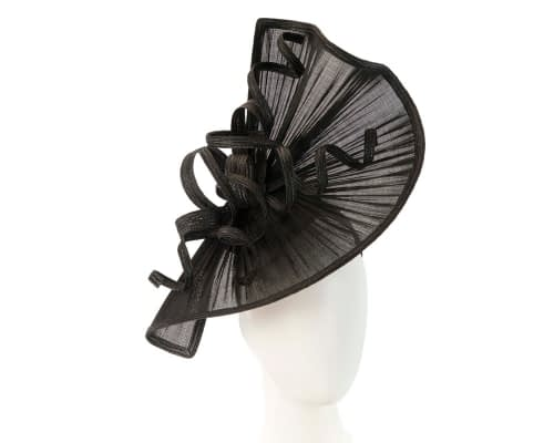 Bespoke black Australian Made racing fascinator by Fillies Collection Fascinators.com.au