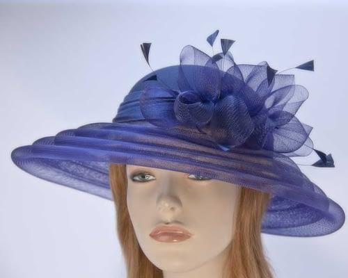 Navy Mother of the Bride hat H963N Fascinators.com.au