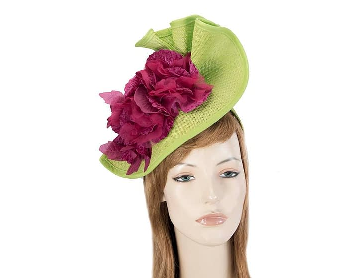 Lime & fuchsia Fillies Collection racing fascinator Fascinators.com.au