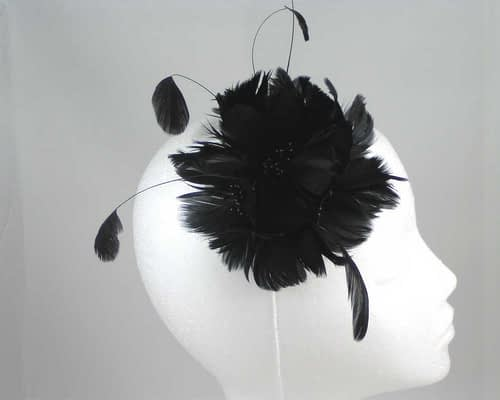 Black fascinator 4824B Fascinators.com.au