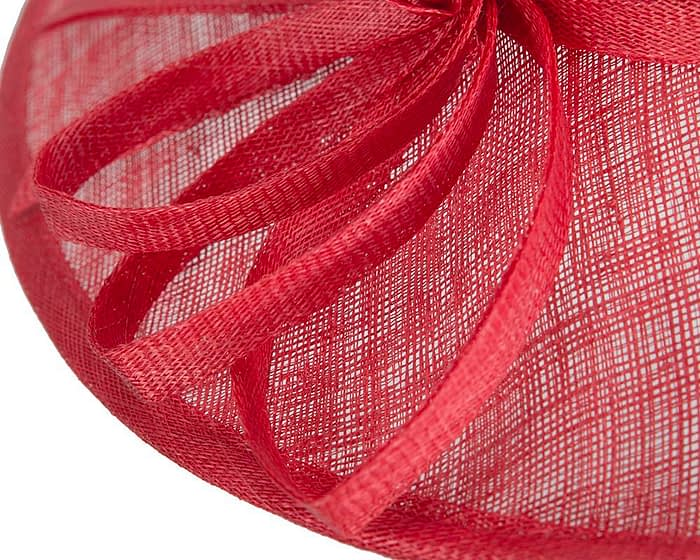 Wide brim red racing hat by Max Alexander Fascinators.com.au