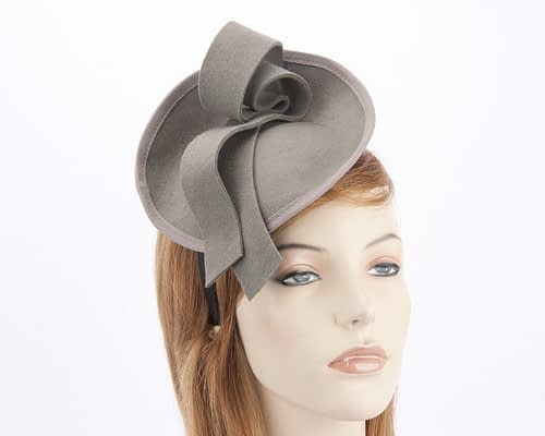 Grey felt fascinator from Max Alexander J305G Fascinators.com.au