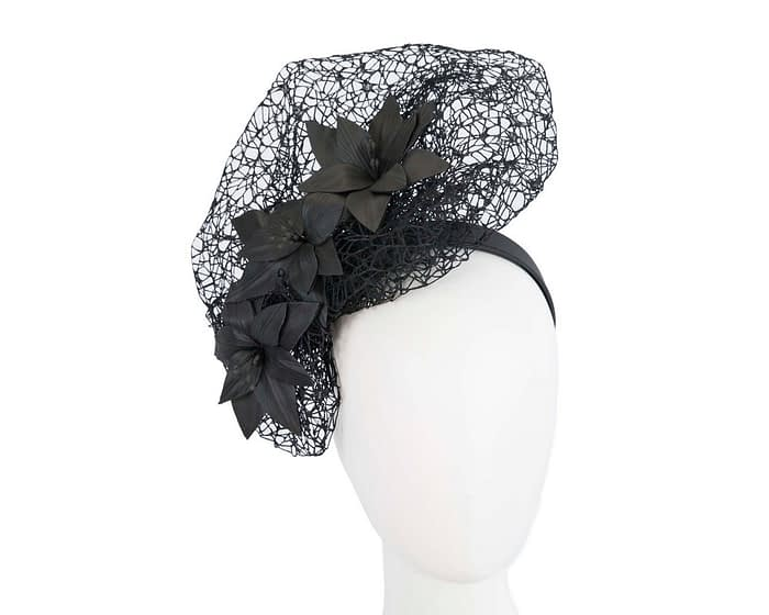 Black designers racing fascinator by Fillies Collection Fascinators.com.au
