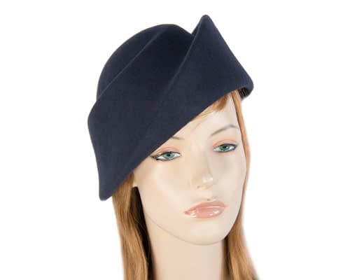 Navy felt hat Fascinators.com.au