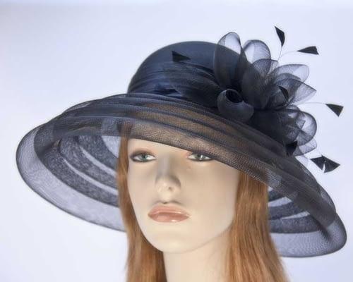 Black mother of the bride hat H963B Fascinators.com.au