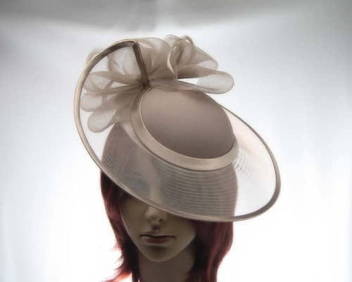 Taupe fashion hats H835T Fascinators.com.au