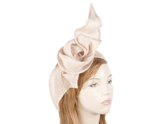 Bespoke twisted nude fascinator Fascinators.com.au