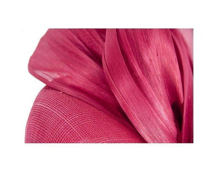 Red pillbox silk abaca bow Fascinators.com.au