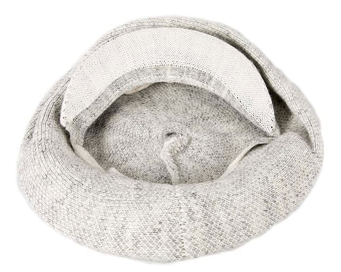 Classic warm light grey wool beaked cap. Made in Europe Fascinators.com.au