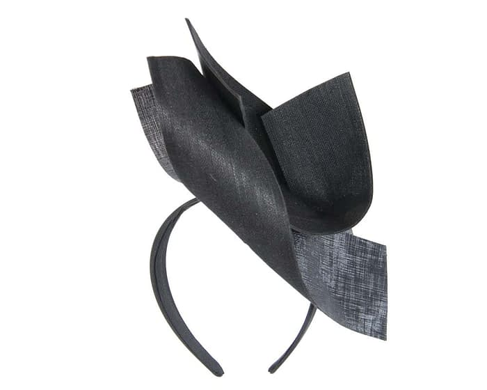 Black leather fascinator Fascinators.com.au